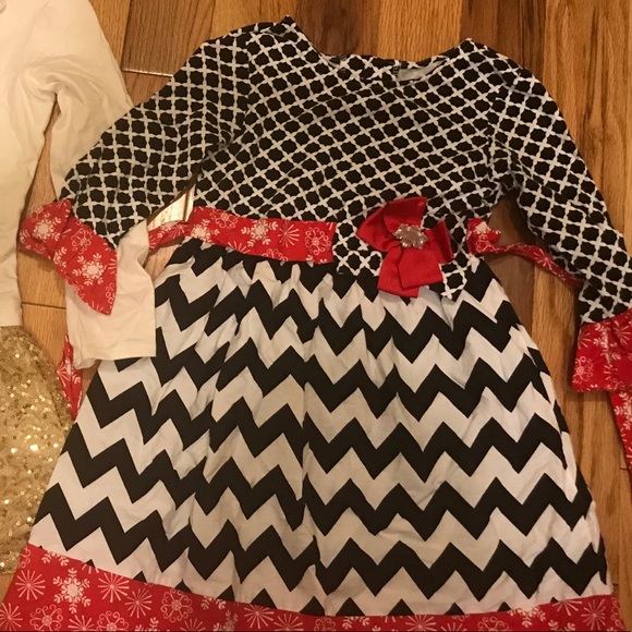 91e6cc45473 Counting Daisies Other - Girls Christmas holiday dress boutique Sz 7